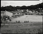 jr. High School in Kawamata Fukushima  Childern play after field and school were decontaminated.