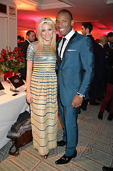 PIXIE LOTT and NOAH STEWART at the Fortnum & Mason and Quintessentially Foundation Fayre of St.James's in association with The Crown Estate held at St.James's Church, Piccadilly followed but a reception at Fortnum & Mason, Piccadilly,London on 5th December 2013.