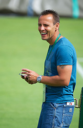 LONDON, ENGLAND - Tuesday, June 26, 2012: Petra Kvitova's coach coach David Dydra during day two of the Wimbledon Lawn Tennis Championships at the All England Lawn Tennis and Croquet Club. (Pic by David Rawcliffe/Propaganda)
