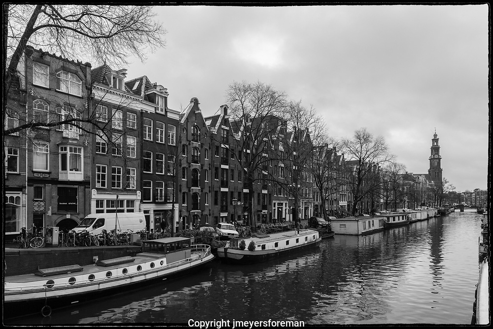 Winter along the Amsterdam Canal