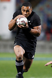 New Zealand's Ngani Laumape runs with the ball against  Argentina in the Investic Rugby Championship Test match at Yarrow Stadium, New Plymouth, New Zealand, Saturday, September 09, 2017. Credit:SNPA / Dean Pemberton  **NO ARCHIVING**