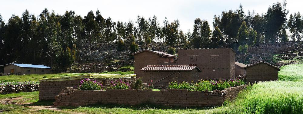 Quechua adobe house in Vacas, Cochabamba, Bolivia
