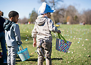 Jesus Noriega prepares to grab Easter eggs before the 21st Annual Easter Egg Hunt at Winnequah Park in Monona, WI on Saturday, April 20, 2019.