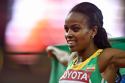 25-08-2015 CHN: IAAF World Championships Athletics day 4, Beijing<br /> First placed Genzebe Dibaba (ETH) after 1500 meter Women<br /> Photo by Ronald Hoogendoorn / Sportida