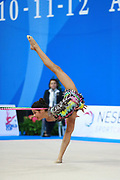 Alexandra Agiurgiuculese during an exhibition in Pesaro World Cup 11 April 2015.