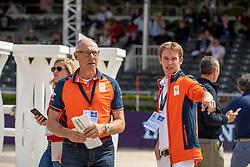 Bles Bart, NED, Ehrens Rob, NED<br /> Rotterdam - Europameisterschaft Dressur, Springen und Para-Dressur 2019<br /> Parcoursbesichtigung<br /> Longines FEI Jumping European Championship - 1st part - speed competition against the clock<br /> 1. Runde Zeitspringen<br /> 21. August 2019<br /> © www.sportfotos-lafrentz.de/Dirk Caremans