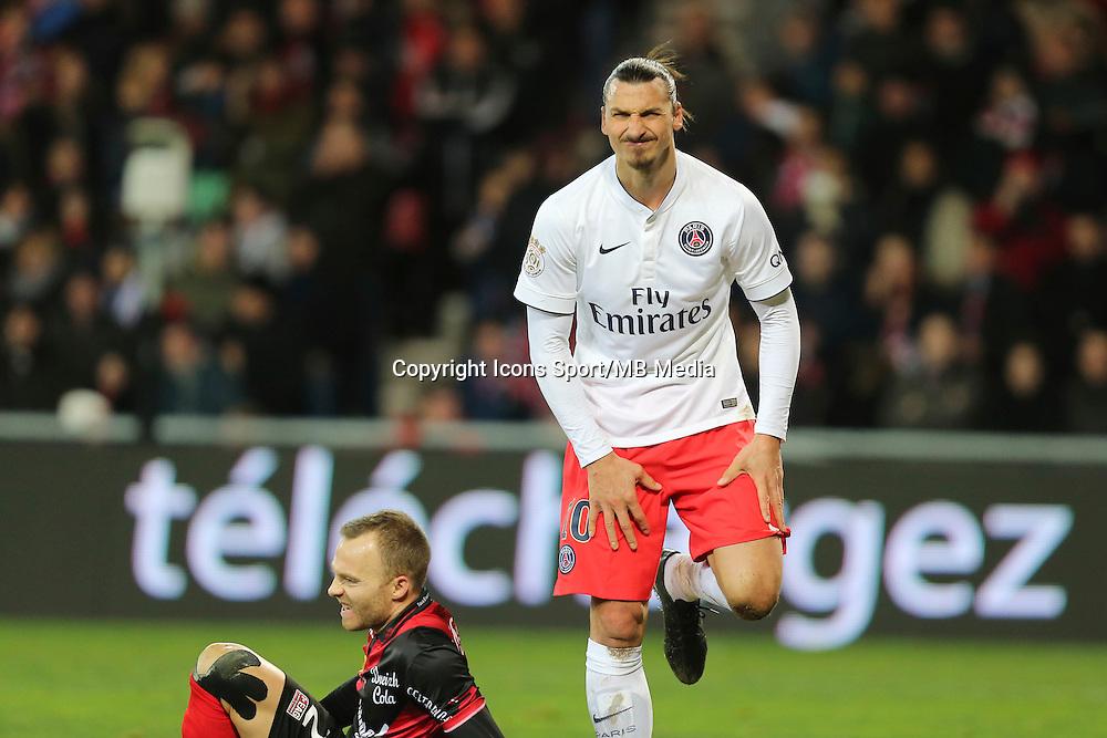 Zlatan IBRAHIMOVIC - 14.12.2014 - Guingamp / Paris Saint Germain - 18eme journee de Ligue 1<br />Photo : Vincent Michel / Icon Sport
