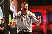 Mensur Suljovic during the First Round of the BetVictor World Matchplay Darts at the Empress Ballroom, Blackpool, United Kingdom on 19 July 2015. Photo by Shane Healey.