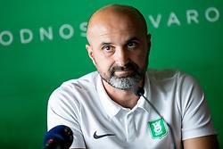 Aleksandar Linta, head coach of NK Olimpija Ljubljana at press conference of NK Olimpija Ljubljana, on August 14, 2018 in SRC Stozice, Ljubljana, Slovenia. Photo by Urban Urbanc / Sportida