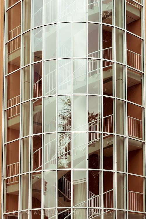 Fassade Bürogebäude in Düsseldorf, Deutschland