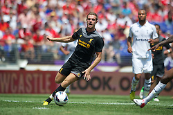 BALTIMORE, MD - Saturday, July 28, 2012: Liverpool's Jordan Henderson in action against Tottenham Hotspur during a pre-season friendly match at the M&T Bank Stadium. (Pic by David Rawcliffe/Propaganda)