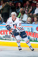 KELOWNA, CANADA - SEPTEMBER 24: Matthew Campese #29 of the Kamloops Blazers skates against the Kelowna Rockets on September 24, 2016 at Prospera Place in Kelowna, British Columbia, Canada.  (Photo by Marissa Baecker/Shoot the Breeze)  *** Local Caption *** Matthew Campese;