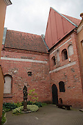 A brick courtyard in Old Town/Senamiestas, Vilnius, Lithuania