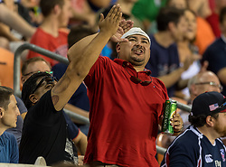 June 16, 2018 - Houston, Texas, US - Fan celebrate the try during the Emirates Summer Series 2018 match between USA Men's Team vs Scotland Men's Team at BBVA Compass Stadium, Houston, Texas (Credit Image: © Maria Lysaker via ZUMA Wire)