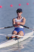 St Catherines, CANADA,  Women's Single Sculls Sculls GBR W1X Alison MOWBRAY,  competing at the 1999 World Rowing Championships - Martindale Pond, Ontario. 08.1999..[Mandatory Credit; Peter Spurrier/Intersport-images]  . 1999 FISA. World Rowing Championships, St Catherines, CANADA
