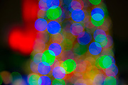 Bokeh, blurred shapes, multi-color, Christmas lights.