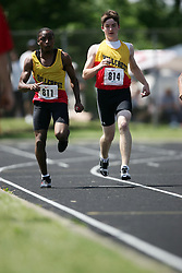 Hamilton, Ontario ---06/06/08--- Greg Kiar of Hillcrest in Ottawa competes in the 4X100 meter relay at the 2008 OFSAA Track and Field meet in Hamilton, Ontario..SEAN BURGES