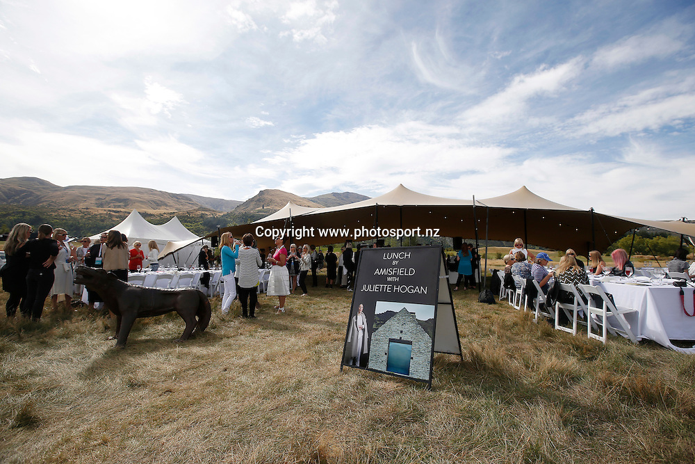 The Amisfield/ Juliette Hogan Long Lunch during round three of the 2016 BMW ISPS Handa New Zealand Open, The Hills, Arrowtown, New Zealand.12 March 2016. Photo by Michael Thomas/www.photosport.nz