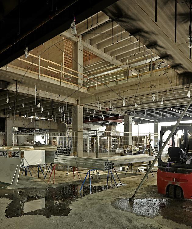 bygning af DOKK1, bibliotek og Borgerservice på havnen i Aarhus, beton, bærende konstruktion