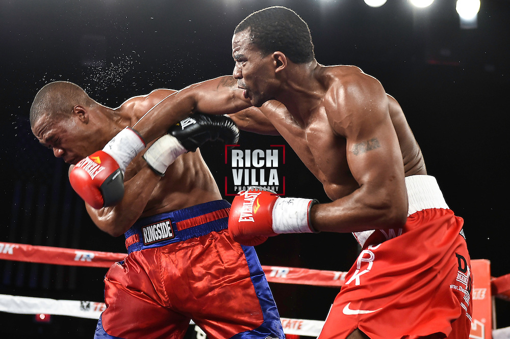 Philadelphia's own, Jesse Hart(Red/White trunks) Vs Samuel Miller(Red/Blue Trunks ) at 2300 Arena in Philadelphia, Pennsylvania on Saturday December 13, 2014 for Solo Boxeo on Unimas.