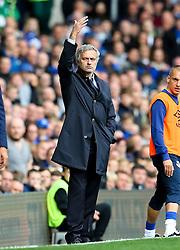 Chelsea Manager, Jose Mourinho gestures - Mandatory byline: Matt McNulty/JMP - 07966386802 - 12/09/2015 - FOOTBALL - Goodison Park -Everton,England - Everton v Chelsea - Barclays Premier League