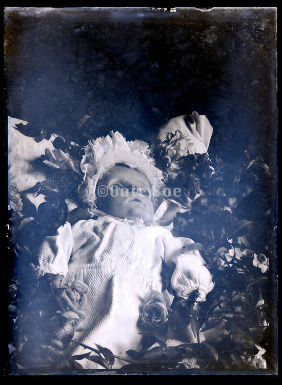 vintage memento mori portrait of a dead baby circa 1920s