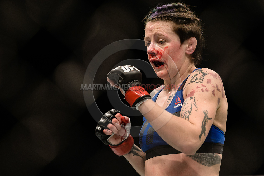 "GLASGOW, UNITED KINGDOM, JULY 16, 2017: Joanne Calderwood during ""UFC Fight Night Glasgow: Nelson vs. Ponzinibbio"" inside the SSE Hydro Arena in Glasgow, Scotland on Sunday, July 16, 2017."