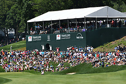 June 24, 2017 - Cromwell, Connecticut, U.S - The crowd gathers around the 15th green during the third round of the Travelers Championship at TPC River Highlands in Cromwell, Connecticut. (Credit Image: © Brian Ciancio via ZUMA Wire)