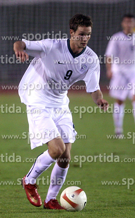 Tim Matavz of Slovenia during the Qualifications for UEFA U-21 EC 2009 soccer match between Slovenia and Finland at Velenje stadion At lake, on September 9,2008, in Velenje, Slovenia.  (Photo by Vid Ponikvar / Sportal Images)