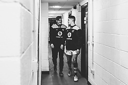 Sam Wolstenholme and Jude Williams of Wasps A - Mandatory by-line: Robbie Stephenson/JMP - 16/12/2019 - RUGBY - Sixways Stadium - Worcester, England - Worcester Cavaliers v Wasps A - Premiership Rugby Shield