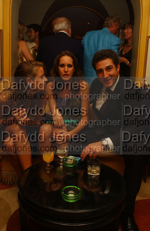 Lydia Forte, Louise Roe and Luca del Bono, Party given by Taki and Alexandra Theodorakopoulos. Annabels. London. 26 September 2006. -DO NOT ARCHIVE-© Copyright Photograph by Dafydd Jones 66 Stockwell Park Rd. London SW9 0DA Tel 020 7733 0108 www.dafjones.com