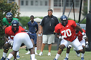 Ole Miss offensive line coach Matt Luke at football practice in Oxford, Miss. on Sunday, August 4, 2013.