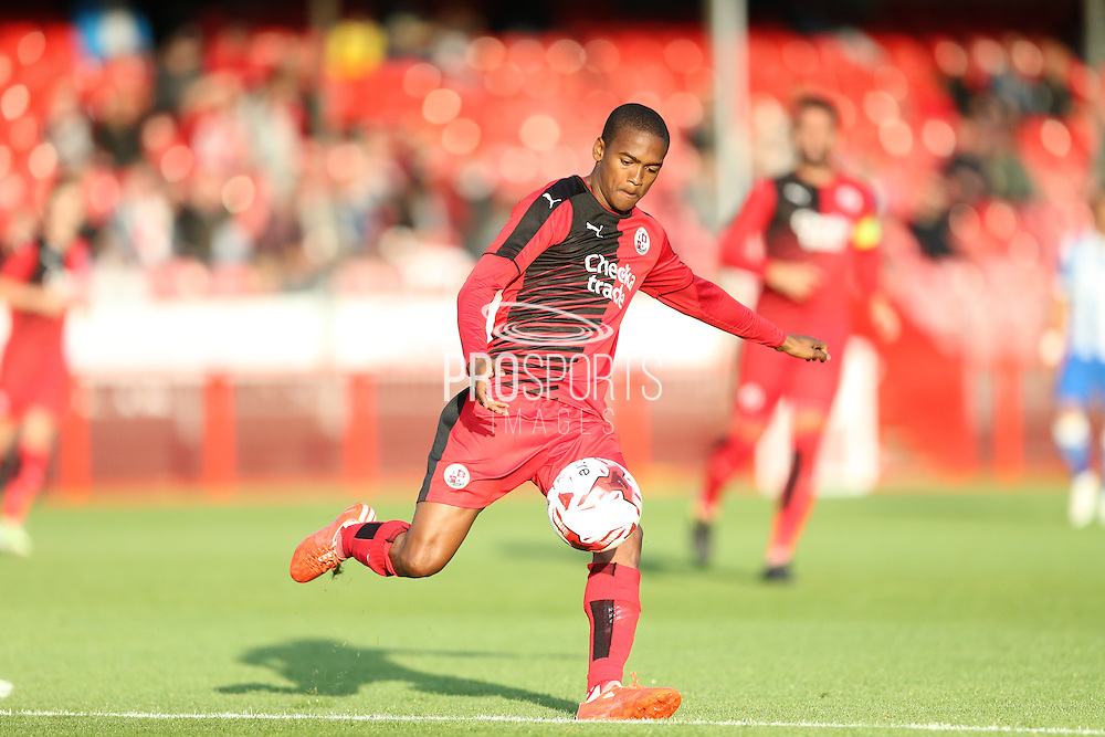 Lewis Young during the Pre-Season Friendly match between Crawley Town and Brighton and Hove Albion at the Checkatrade.com Stadium, Crawley, England on 22 July 2015.