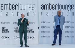 May 25, 2018 - Montecarlo, Monaco - Sir Jackie Stewart opens the auction at the 15th Amber Lounge Charity Fashion Show 2018 in Monte Carlo, Monaco. (Credit Image: © Robert Szaniszlo/NurPhoto via ZUMA Press)