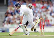 © SPORTZPICS / Seconds Left Images 2009 -  Andrew Strauss gets off the mark as he  races through for his first run of the final Ashes test of 2009 -  England v Australia - The Ashes 2009 - 5th npower Test  Match - Day 1 - 20/08/09 - The Brit Oval - London -  UK - All Rights Reserved