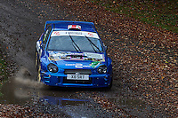 #3 Kevin Procter / Derrick Fawcett Subaru Impreza WRC Northallerton & DMC Proctors Coaches, Coach 2.Com during Neil Howard Memorial Stage Rally, and opening round of the 2015 Motorsport News Rally Championship.  at Oulton Park, Little Budworth, Cheshire, United Kingdom. November 07 2015. World Copyright Peter Taylor. Copy of publication required for printed pictures.  Every used picture is fee-liable. http://archive.petertaylor-photographic.co.uk