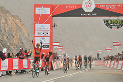 March 1, 2019 - Dubai, Emirati Arabi Uniti - Foto LaPresse - Massimo Paolone.1 Marzo 2019 Emirati Arabi Uniti.Sport Ciclismo.UAE Tour 2019 - Tappa 6 - da Ajman a Jebel Jais -.180 km.Nella foto: Primoz ROGLIC TEAM JUMBO - VISMA vince la sesta tappa..Photo LaPresse - Massimo Paolone.March 1, 2019 United Arab Emirates.Sport Cycling.UAE Tour 2019 - Stage 6 - Ajman to Jebel Jais - 111,8.miles.In the pic: Primoz ROGLIC TEAM JUMBO - VISMA wins stage 6 (Credit Image: © Massimo Paolone/Lapresse via ZUMA Press)