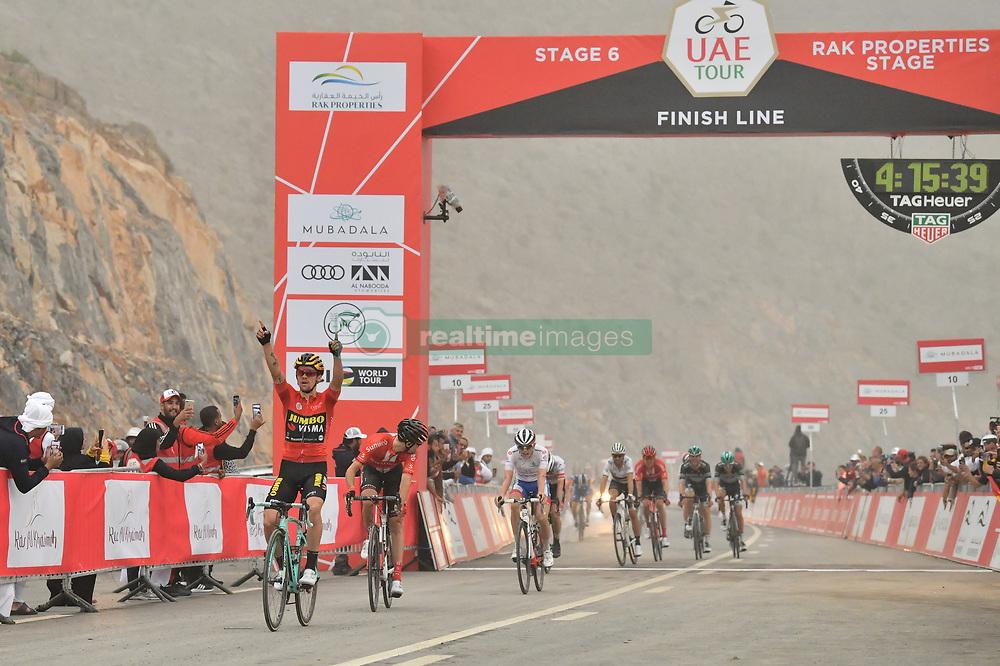 March 1, 2019 - Dubai, Emirati Arabi Uniti - Foto LaPresse - Massimo Paolone.1 Marzo 2019 Emirati Arabi Uniti.Sport Ciclismo.UAE Tour 2019 - Tappa 6 - da Ajman a Jebel Jais -.180 km.Nella foto: Primoz ROGLIC TEAM JUMBO - VISMA vince la sesta tappa..Photo LaPresse - Massimo Paolone.March 1, 2019 United Arab Emirates.Sport Cycling.UAE Tour 2019 - Stage 6 - Ajman to Jebel Jais - 111,8.miles.In the pic: Primoz ROGLIC TEAM JUMBO - VISMA wins stage 6 (Credit Image: © Massimo Paolone/Lapresse via ZUMA Press)
