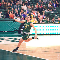 2nd year guard, Carolina Goncalves (11) of the Regina Cougars during the Women's Basketball Home Game on Sat Dec 01 at Centre for Kinesiology,Health and Sport. Credit: Arthur Ward/Arthur Images