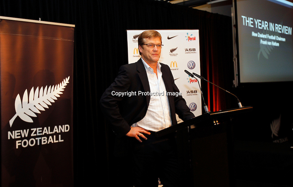 New ZEaland Football Chairman Frank van Hattum. 2010 New Zealand Football Awards, Auckland Maritime Museum Auckland, Friday 28th May 2011. Photo: Shane Wenzlick