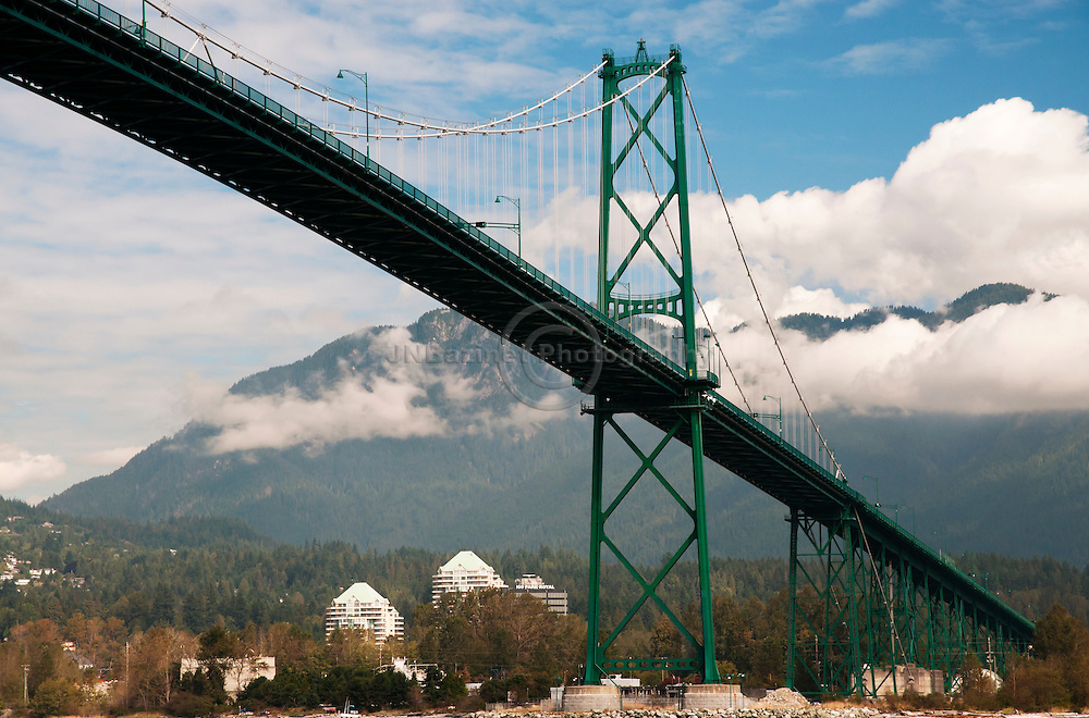 The Lions Gate bridge connects Stanley Park with the north shore of Vancouver.  The total length of the bridge including the north viaduct is 1,823 metres (5,890 feet).
