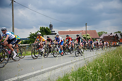 Coryn Rivera (USA) and Roxane Fournier (FRA) in the bunch at Lotto Thuringen Ladies Tour 2018 - Stage 3, a 131 km road race starting and finishing in Schleiz, Germany on May 30, 2018. Photo by Sean Robinson/Velofocus.com