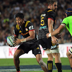 Solomon Alaimalo in action during the Super Rugby match between the Chiefs and Highlanders at FMG Stadium in Hamilton, New Zealand on Friday, 30 March 2018. Photo: Dave Lintott / lintottphoto.co.nz
