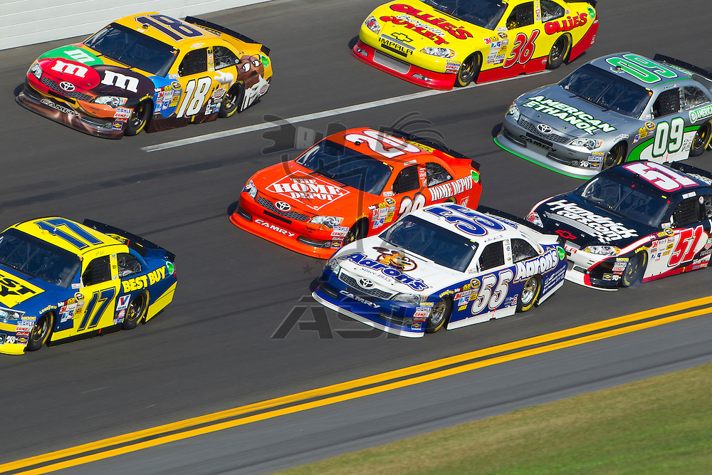 Daytona Beach, FL - Feb 23, 2012:  The NASCAR Sprint Cup teams take to the track for the Gatorade Duel 2 race at the Daytona International Speedway in Daytona Beach, FL.