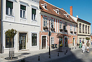 Historic buildings in the pedestrian area in the city of Koeszeg, Guens in Western Hungary.Historische Häuser in der Fußgängerzone in der westungarischen Stadt Köszeg Güns, Ungarn