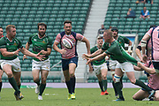 Twickenham, Lancashire, 27th May 2018. Bill Beaumont Division 1 Final, Herts James REA, off loads the ball, during the  Lancashire vs Hertfordshire, Rugby match, at the RFU. Stadium, Twickenham. UK.  <br /> <br /> © Peter Spurrier/Alamy Live News