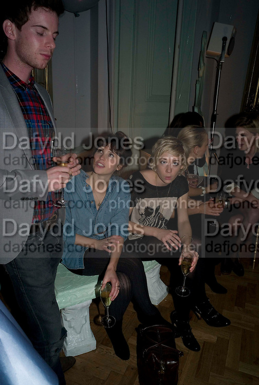 LUKE TREADAWAY; FELICITY JONES; POLLY STENHAM, Vogue Fantastic  Fashion Fantasy Party in association with  Van Cleef and Arpels and to celebrate Vogue's secret address book. 1 Marylebone Rd. London. 3 November 2008 *** Local Caption *** -DO NOT ARCHIVE -Copyright Photograph by Dafydd Jones. 248 Clapham Rd. London SW9 0PZ. Tel 0207 820 0771. www.dafjones.com