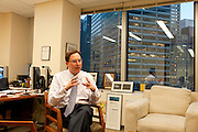Rob Goldstein, Head of BlackRock Solutions, in his office...BlackRock headquarters on 52nd street in Manhattan, New York City..Blackrock is the world's largest money managing company. According to Fortune magazine 'With more than $3 trillion in assets, Larry Fink and his team at BlackRock are the world's largest money managers'.
