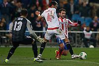 31.01.2013 SPAIN - Copa del Rey 12/13 Matchday 1/4  match played between Atletico de Madrid vs Sevilla Futbol Club (2-1) at Vicente Calderon stadium. The picture show  Adrian Lopez Alvarez (Spanish striker of At. Madrid)