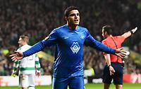 05/11/15 UEFA EUROPA LEAGUE GROUP STAGE<br /> CELTIC v MOLDE FK<br /> CELTIC PARK - GLASGOW<br /> Molde's Mohamed Elyounoussi celebrates after opening the scoring